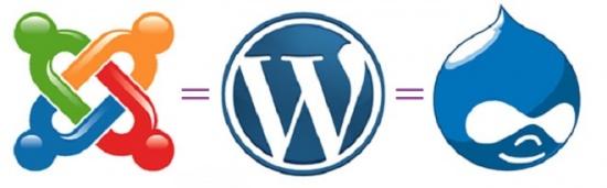Drupal WordPress Joomla  лого
