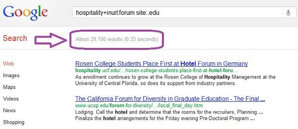 Пример поиска ссылок .edu