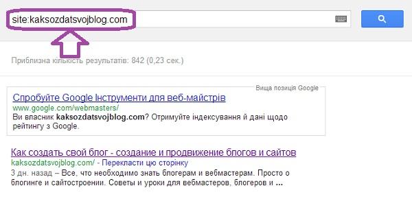 Индекс блога в Google