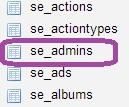 SE Admins в MySql