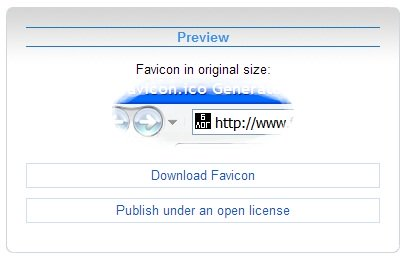 Загружаем Favicon