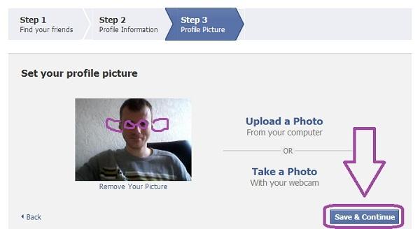 Как Зарегистрироваться в Facebook. Шаг 4