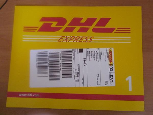 Получение чек экспресс доставкой DHL