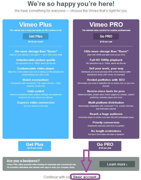 Как Добавить Видео на Vimeo 2