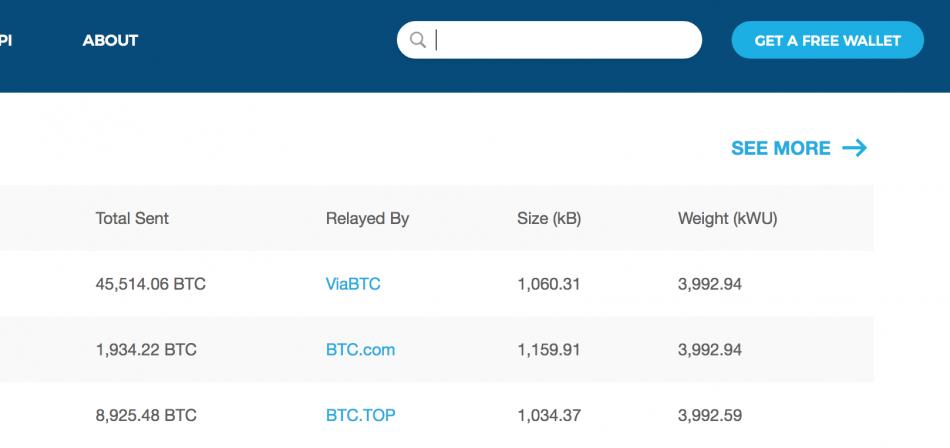 кнопка Get a free wallet - Blockchain.com
