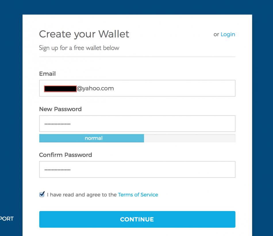 регистрация - Blockchain.com