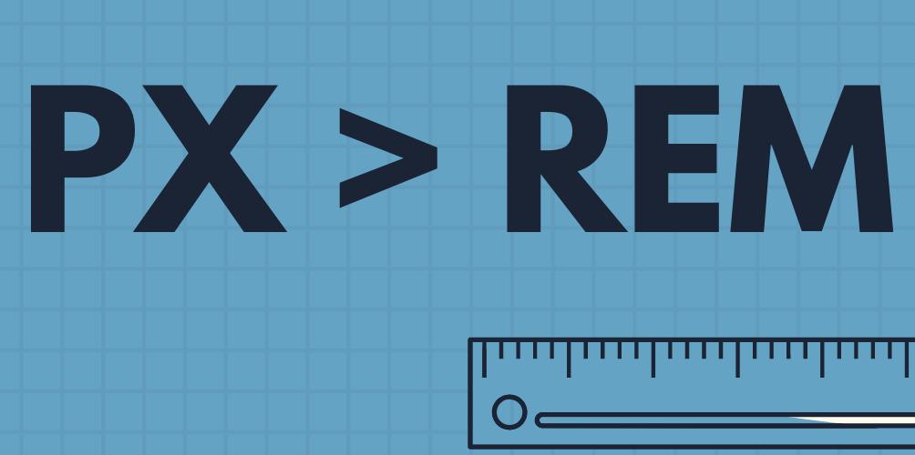 Таблица соответствия PX и REM (px to rem)
