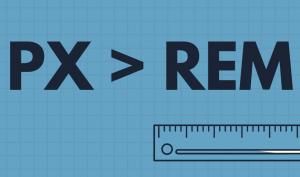 Таблица соответствия PX и REM